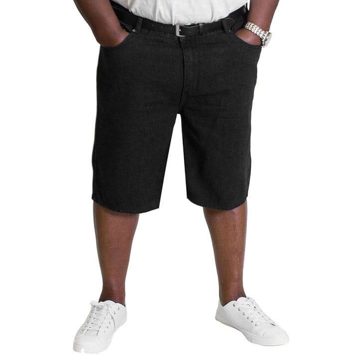 Duże jeansowe spodenki BigDude WB czarne