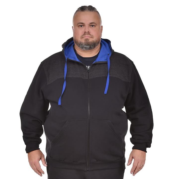 Duża męska bluza z kapturem Viking czarna